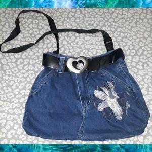 Handbags - Adorable Handmade denim jeans purse